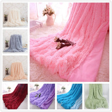 WINLIFE 160*200cm And 130*160cm Super Soft Long Shaggy Fuzzy Fur Faux Fur Warm Elegant Cozy With Fluffy Sherpa Throw Blanket