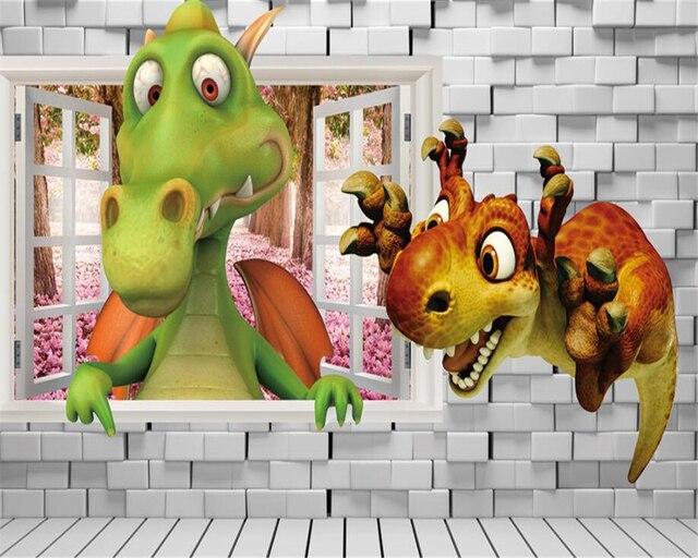 Tapete Fur Wohnzimmer Kinderzimmer Wand Gebrochen Wand Cartoon