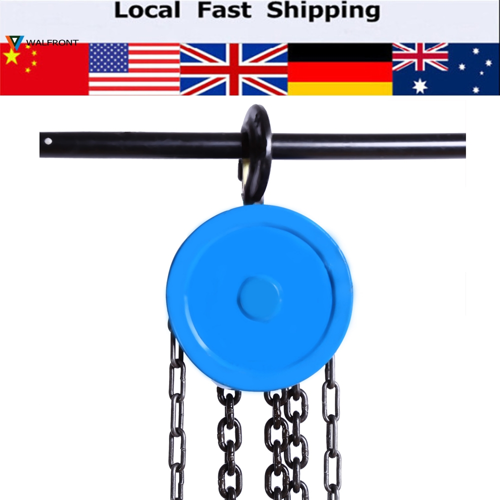 1000kg Pulley Chain Block Chain Hoist Polipasto Cable Hand Control Pulley Crane 3m Manual Block Lift  Pulley Lifting