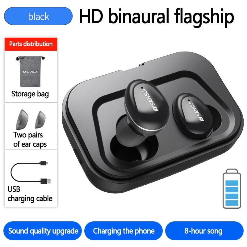 TWS HD Binaural Call Smart Touch Bluetooth 5.0 HI-FI Noise Reduction Mini 3D Stereo Wireless Earbuds In Ear Buds Sport Earphone mini tws v5 0 bluetooth earphone port wireless earbuds stereo in ear bluetooth waterproof wireless ear buds headset yz209
