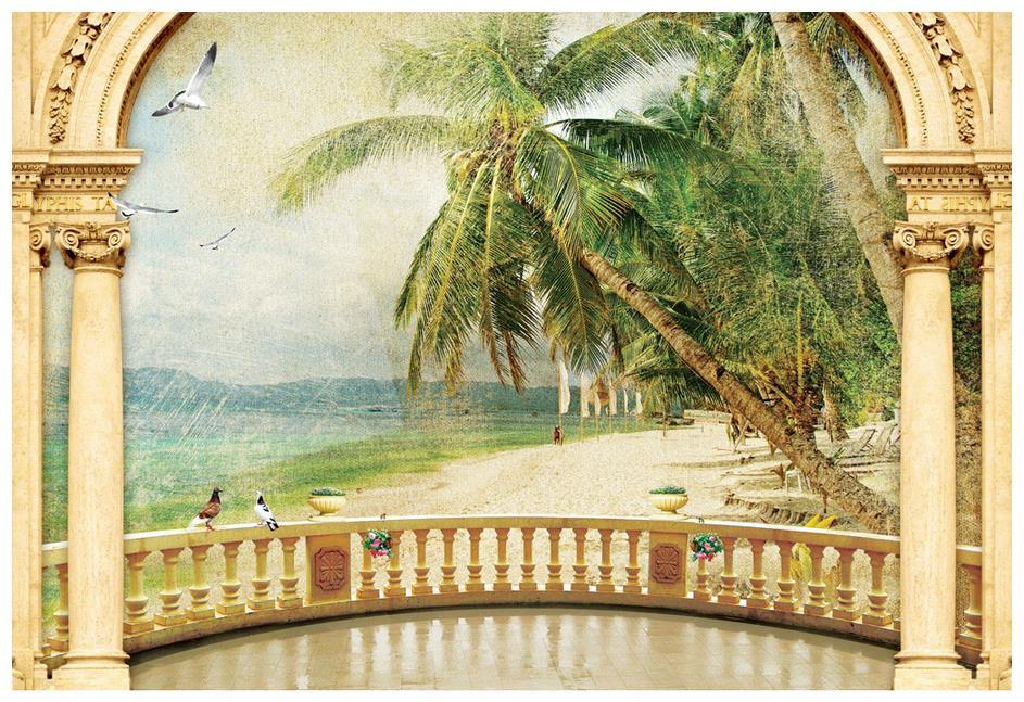 Custom 3 D Photo Wallpaper Wall Murals 3d Wallpaper Beach: Custom High End Mural 3d Photo Wallpaper 3d Murals
