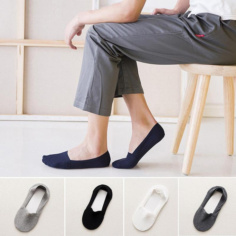10pcs=5Pairs/lot Spring Summer Men Cotton No Show   Socks   For Men's Business Casual Solid Short   Socks   Male   Sock   Slippers Meias
