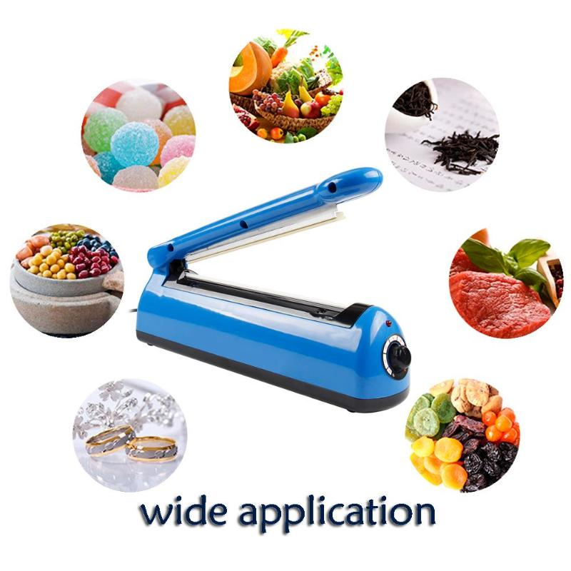 Automatic Heat Sealing Impulse Manual Sealer Plastic Bag Sealing Machine 300W Type 200 EU Plug portable impulse bag sealer 110v 300w heat sealing impulse manual sealer machine poly tubing plastic bag household tools hot