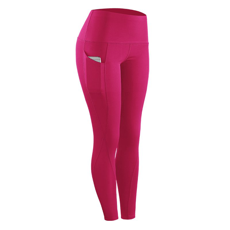 2018 New Female Running Sports Stretch Compression Pants Tights Leggings Fitness Quickly-Dry Pants for Women Solid High Waist ...