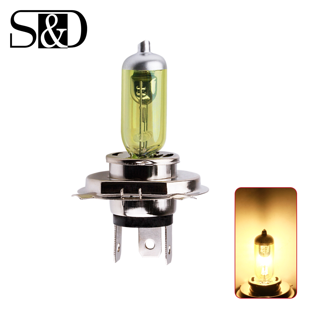 12V <font><b>H4</b></font> <font><b>55W</b></font> Yellow Fog Lights Halogen Bulb High Power Headlight <font><b>Lamp</b></font> Car Light Source parking Head auto <font><b>60</b></font>/<font><b>55W</b></font> 3000K image