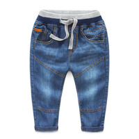 TBwish Chłopcy spodnie jeans 2017 Moda Chłopców Dżinsy na Wiosnę Jesień Dark Blue Stworzone Spodnie Jeansowe Spodnie Dla Dzieci Dzieci
