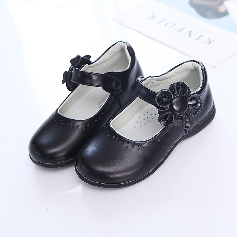 Spring Autumn NEW Children Shoes Girls flowers Princess Shoes Black Leather student Dance Wedding Party Shoes Red Pink 2-14TSpring Autumn NEW Children Shoes Girls flowers Princess Shoes Black Leather student Dance Wedding Party Shoes Red Pink 2-14T