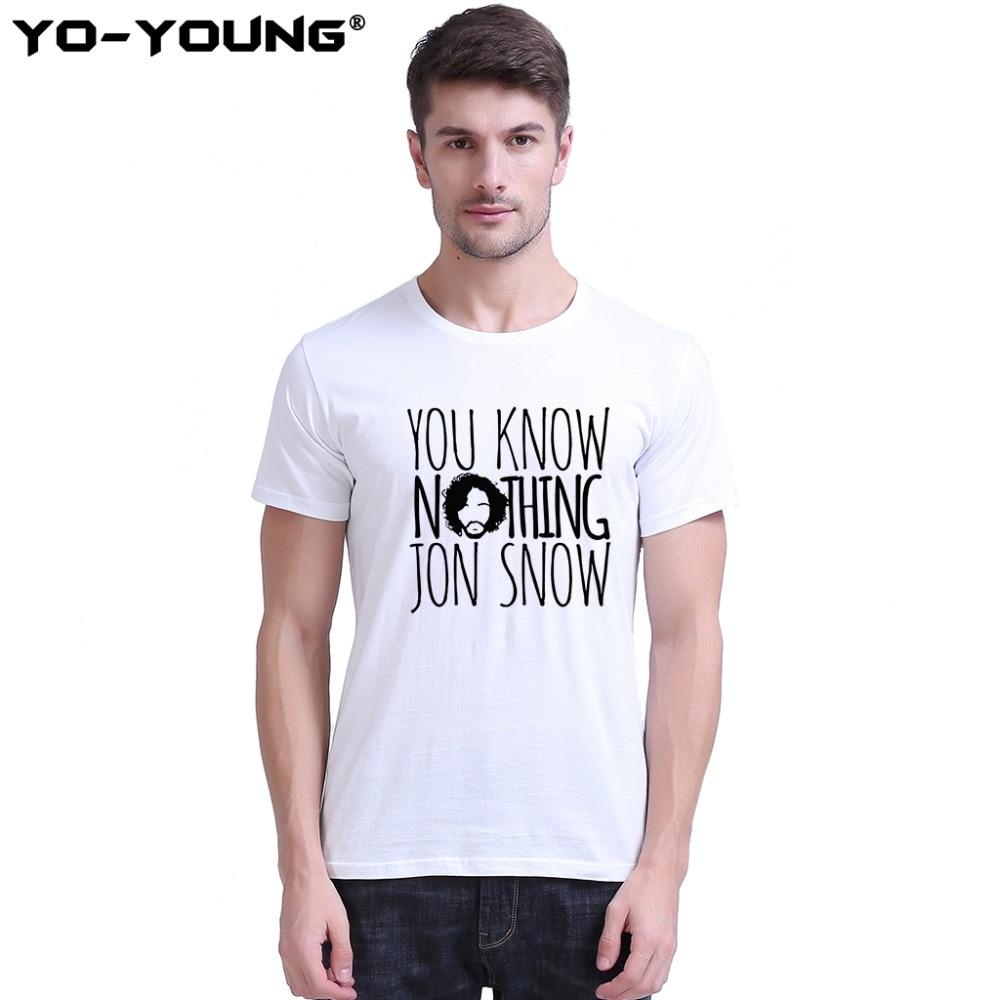 Játék a trónok Jon hó tudod semmi férfi pólók betűk Design - Férfi ruházat