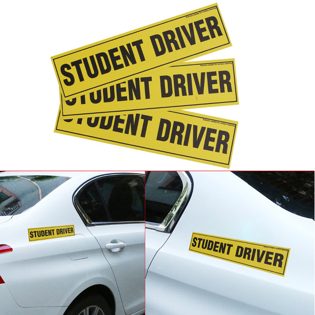 1x removable magnetic student driver car vehicle sign safety bumper signs magnet decal funny bumper stickers