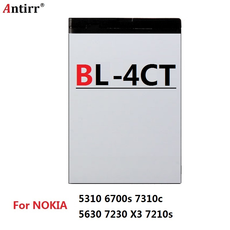 860MAH BL-4CT BL 4CT Replacement Li-ion <font><b>Battery</b></font> For <font><b>Nokia</b></font> <font><b>5310</b></font> 6700s 7310c 2720F 5630XM 6600F 7205 7210C <font><b>Batteries</b></font> image