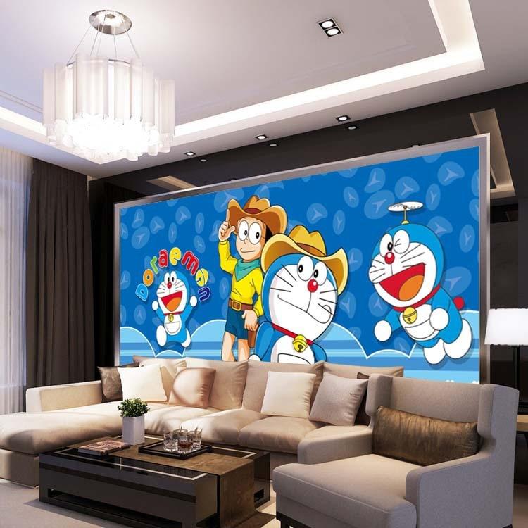 Japanischen anime Tapete Doraemon Wandbild Cartoon Fototapete Seide ...