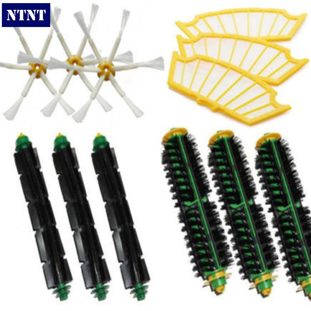 NTNT Free Post Filters & Brush Pack Mega Kit for iRobot Roomba 500 Series 6 Armed Brand New ntnt free shipping side brush filters 6 armed mini kit for irobot roomba 500 series