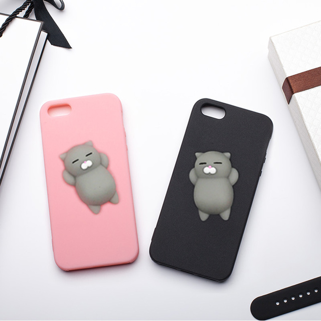 a8596f6f826 HOPELF Case for iPhone 5s Case 5 SE Cover Silicone Cute Clumsy Cat Squishy  for Coque iPhone 5s 5 SE Case Phone Bag Fundas