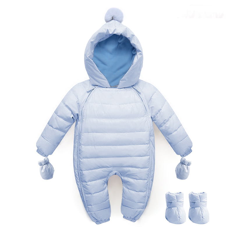 ae325a0bc 2017 Baby Winter Clothing Warm Hooded 90% Duck Down Baby Romper ...