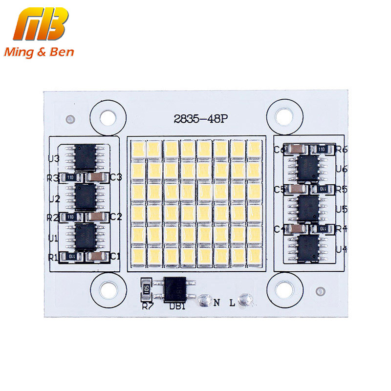[MingBen] DIY LED SMD Chip Lamp 20W 30W 50W Light Chip 230V Input Directly Smart IC Fit For DIY FloodLight Cold White Warm White