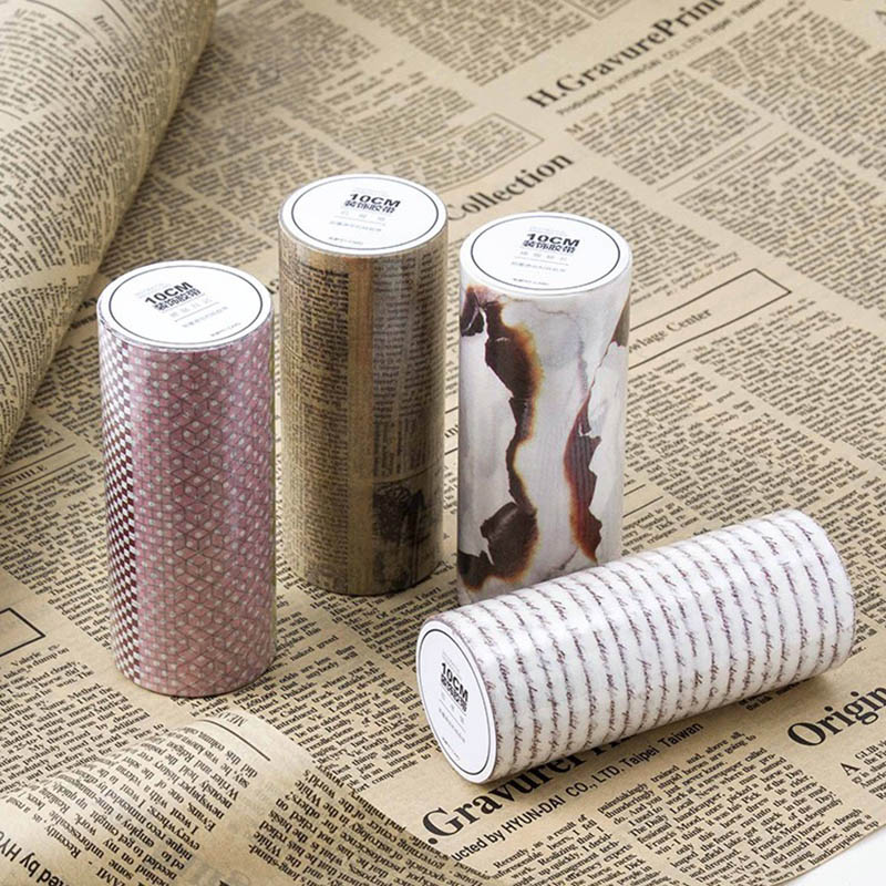 10cm width vintage old newspaper letter masking washi tape adhesive tapes for decoration Student 3658 wd 12 2 свеча аром amour в под кор