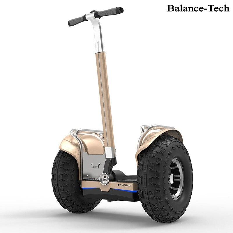 Беспроводной интеллектуальный пульт дистанционного управления Big Wheel Самостоятельная Баланс мобильности скутер 2400 Вт двигателя off Road Элект...