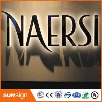 Factory Outlet Stainless steel backlit led advertising signage for shop Supermarket - SALE ITEM All Category