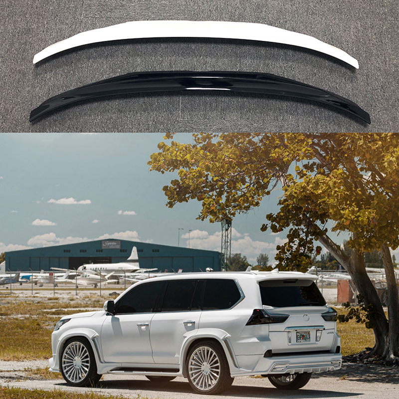 Para Lexus LX570 2016 2017 2018 Decoração Do Carro Plástico ABS Pintura Pintura Cor Tronco Spoiler Traseiro