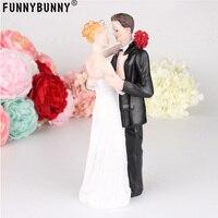 FUNNYBUNNY Bride and Groom Decorative Wedding Cake Toppers Cake Topper Figurines, Keepsake Wedding Cake Decorations