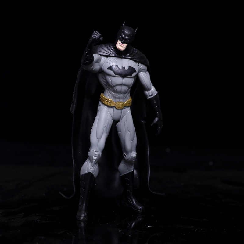 أنيمي الرقم الخارقين باتمان المصابيح الخضراء فلاش سوبرمان المرأة المعجزة pvc عمل أرقام دمى الاطفال اللعب نموذج 17 سنتيمتر