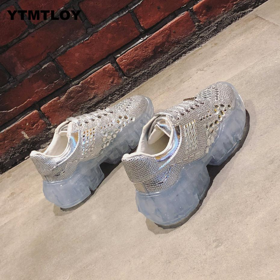 2019 Women Glitter Platform Sneakers Fashion Womens Chunky Shoes Woman Triple Sole Metallic Sequins Bling Footwear  Crystal2019 Women Glitter Platform Sneakers Fashion Womens Chunky Shoes Woman Triple Sole Metallic Sequins Bling Footwear  Crystal