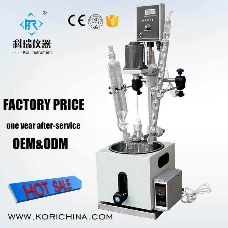 Manufacturer Price 2l laboratory Pyrex Chemical Flow Reactor/glass Reaction Vessel все цены