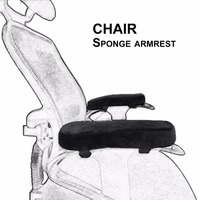 2pcs Chair Armrest Pads Ultra Soft Memory Foam Elbow Pillow Support Universal Fit For Home Or