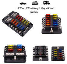 WUPP Car Fuse Box 12 Way 10 8 6 M5 Stud independent positive and negative for Auto Boat Marine Trike Caravan
