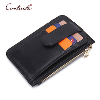CONTACT S Men Wallet Genuine Cowhide Leather Short Card Holder Coin Change Purse 2017 Mini Slim