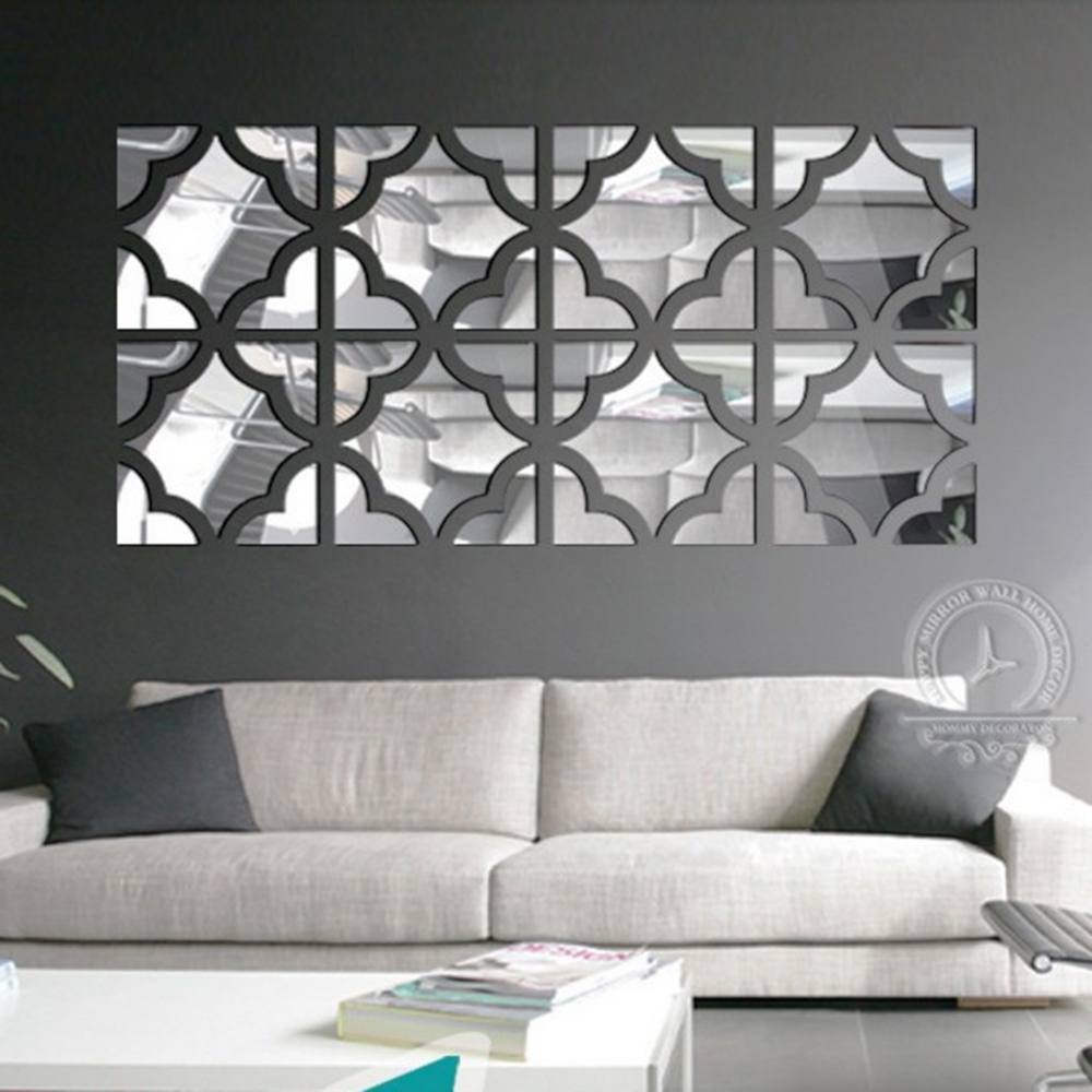 popular wall sized mirrorsbuy cheap wall sized mirrors lots from  - xcm pcslot big size flower square loop d acrylic mirror wallstickers home decoration