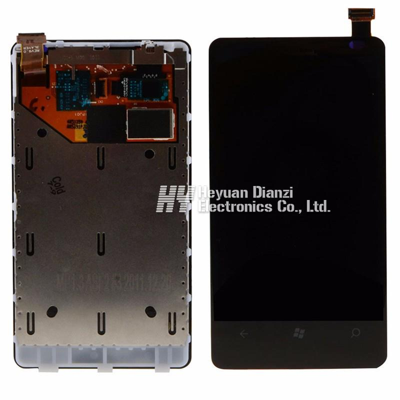 For Nokia Lumia 800 Lcd Display Touch Screen Digitizer Assembly With Frame Free Shipping