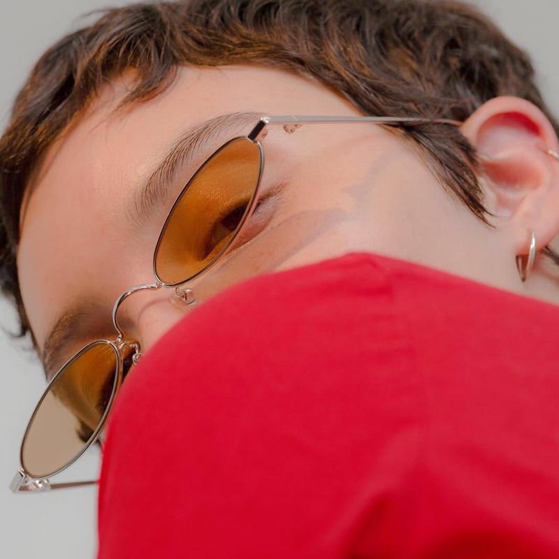 إطار ضيق النظارات الشمسية للنساء خمر - ملابس واكسسوارات