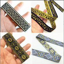 2M Colourful Black Gold Ribbon Wedding Herring Bonebinding Tape Lace Fabirc Trimming for Packing Accessories DIY HB193