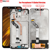 For Pocophone F1 Lcd With Frame For Pocophone F1 Display Touch Screen Digitizer Replacement For Xiaomi Pocophone Poco F1 Lcd