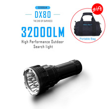 IMALENT DX80 Led Flashlight with 8 CREE XHP70 LED USB Charger 32000 Lumens IPX-8 Waterproof Multi-function OLED Aluminum Case super torch search flash light imalent dx80 8 creexhp70 max 32000 lumen beam built in most powerful flashlight 806 meter