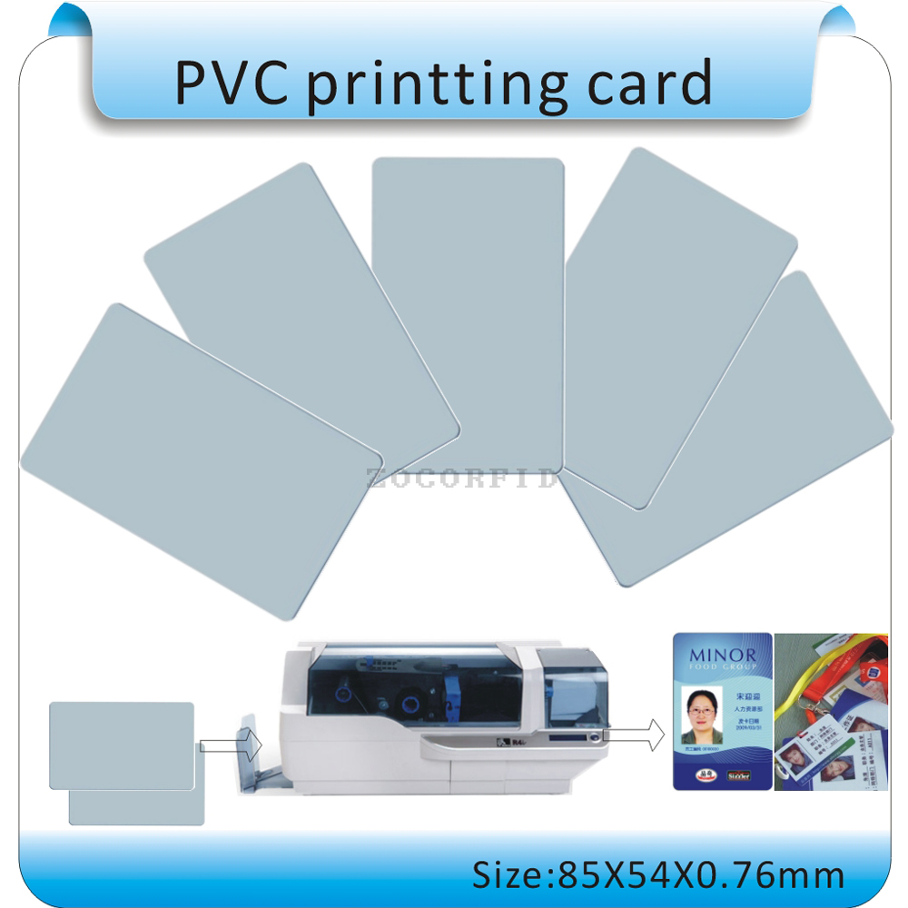 Long-term Sales Of 100PCS PVC Cards Can Be Printed, Thickness 0.76MM/white Pvc Card