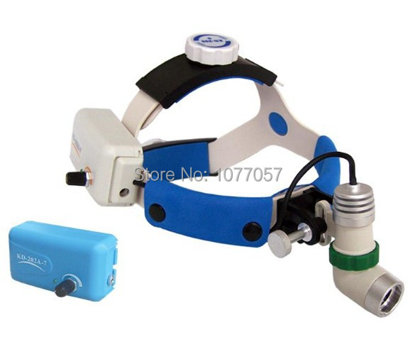 Free Shipment , ISO/ CE/ FCC Approval , LED 3W/ Two battery power Medical head lamp / Medical surgical head light