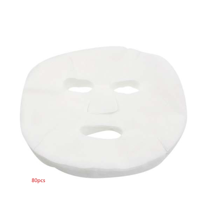 1 Набор косметическая маска для лица бумажная одноразовая хлопковая Нетканая Ткань DIY маска для лица Высокое качество 80 шт