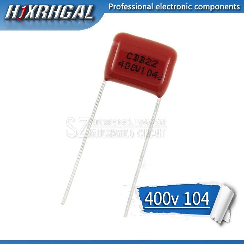 10PCS 400V104J Pitch 10mm 0.1UF 100NF 400V 104 CBB Polypropylene Film Capacitor Hjxrhgal