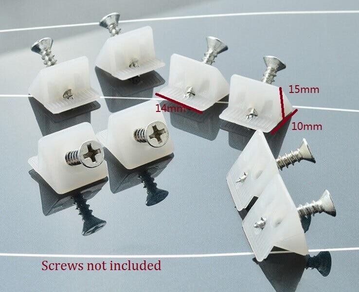 2000pcs Lot 45 degree Angle plastic corner bracket block for furniture closet back panel Without Screws