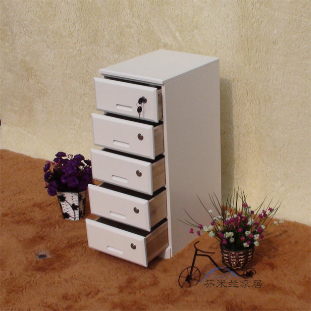 Fen Milan Anese Style Wood Chest Of Drawers Lockable Storage