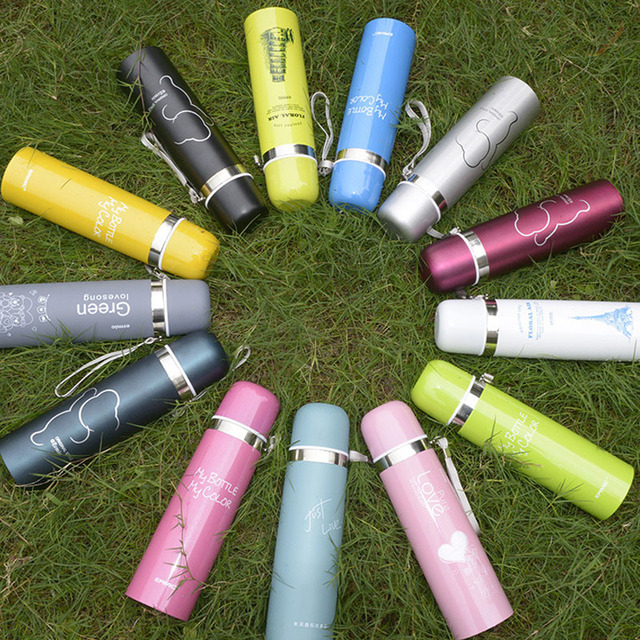 1pc Thermos CupThermo Mug Vacuum Stainless Steel Bottle Thermal Thermos Bottle Insulated Tumbler Travel Thermocup Coffee Mugs