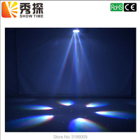 1pieces/lot Beam 2018 New Arrival DJ 6X12W RGBW Bee Eye Moving Head with laser Mini Led Stage Lighting High Bright and quality