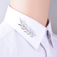 Hot Selling Fashionable style antique  leaves   collar clip Unisex brooch Accessories