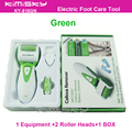 New Green waterproof  pedicure tool electric tools Foot Care Exfoliating with roller heads scholls function  box pack  KIMISKY