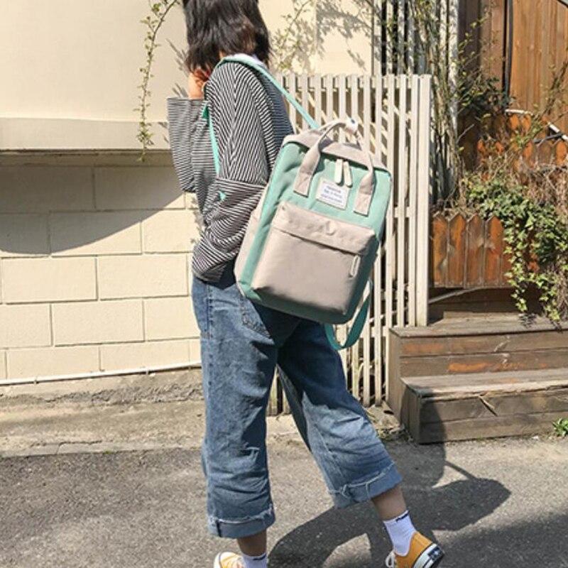 HTB1O2eRB4uTBuNkHFNRq6A9qpXaz Yogodlns Campus Women Backpack School Bag for Teenagers College Canvas Female Bagpack 15inch Laptop Back Packs Bolsas Mochila