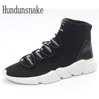 Hundunsnake Cao Top Trail Vớ Sneakers Nam Màu Đen Đan Chạy giày Cho Nam Giới Krasovki Phụ Nữ Theo Rình Lớn Dành Cho Nam Giày Thể Thao T386