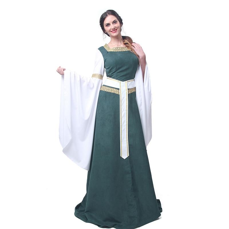 ROLECOS Mujeres Vestidos Retro Europeos Ropa Renacentista Medieval - Disfraces - foto 2