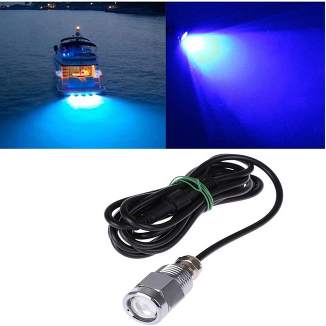 9W IP68 Waterproof LED Underwater Light with Connector Drain Plug Light Marine Boat Yacht Light DC 8 28V